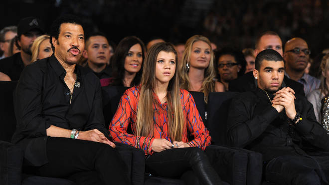 Lionel Richie with children Sofia and Miles in 2012