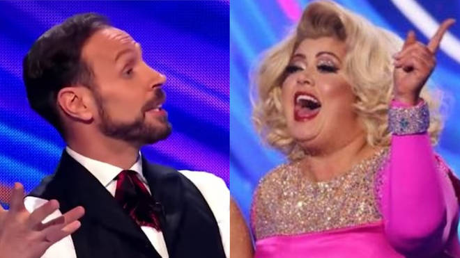 Jason Gardiner and Gemma Collins traded insults on Sunday