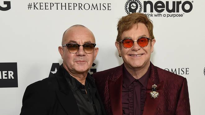 Bernie Taupin and Elton John in 2017