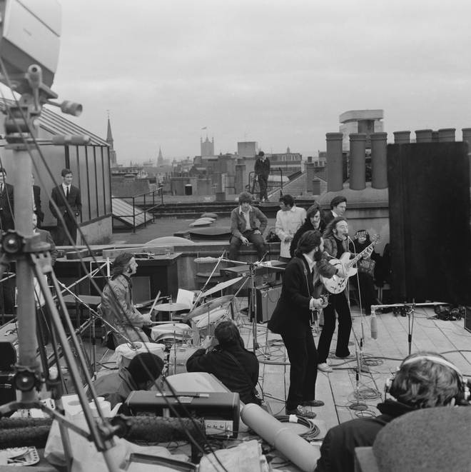 The Beatles' rooftop performance in London, 1969