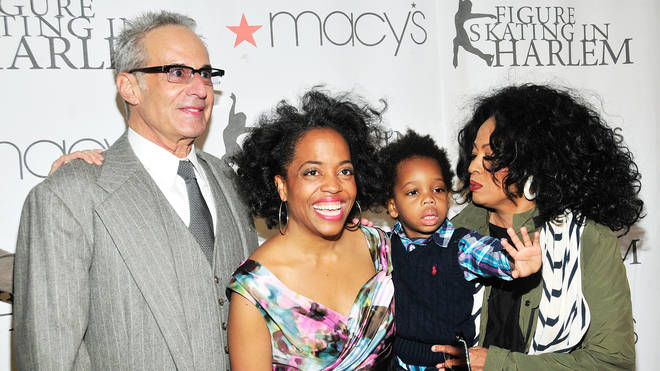 Diana Ross with first husband Robert Silberstein, daughter Rhonda and grandson Raif-Henok in 2012