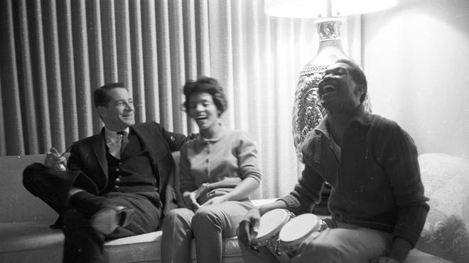 Sam Cooke with wife Barbara and their lawyer in 1960.