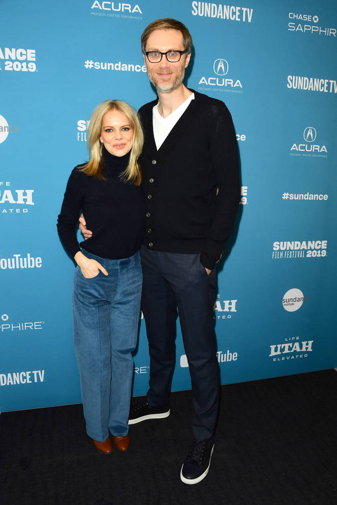 Stephen Merchant and Mircea Monroe in 2019
