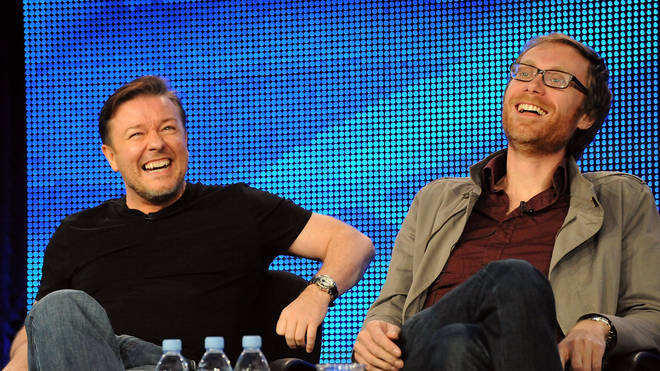 Ricky Gervais and Stephen Merchant in 2010