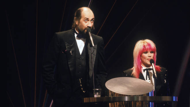 Mick Fleetwood and Sam Fox in 1989