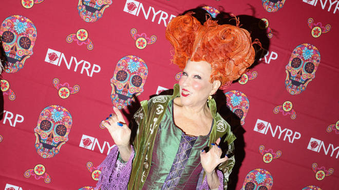 Bette Midler in her Hocus Pocus costume