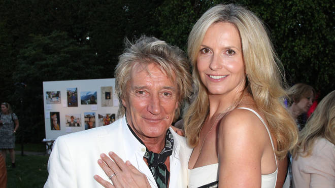 Penny Lancaster and Rod Stewart in 2015
