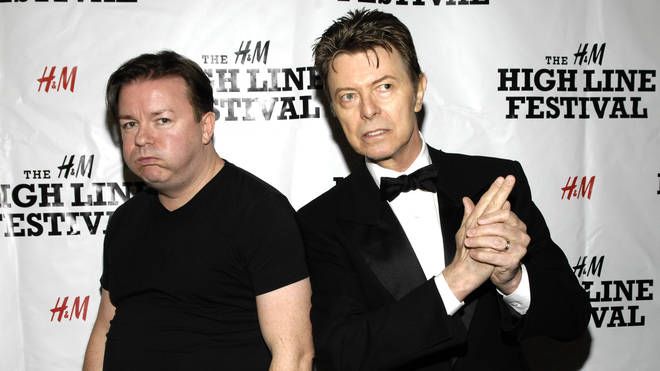 David Bowie and Ricky Gervais in 2007