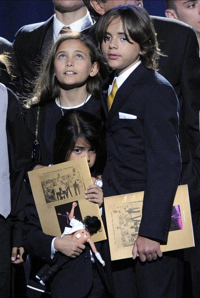 Michael Jackson's kids at his memorial service in 2009