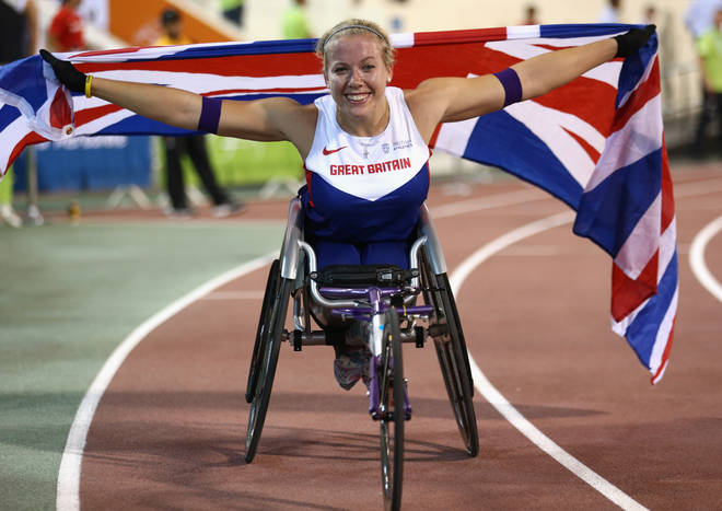 Hannah Cockroft at the IPC Athletics World Championships
