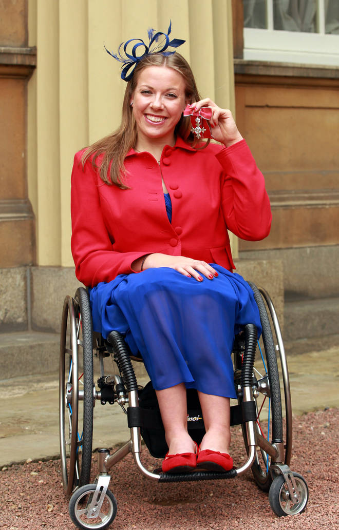 Hanna Cockroft received her MBE in 2013