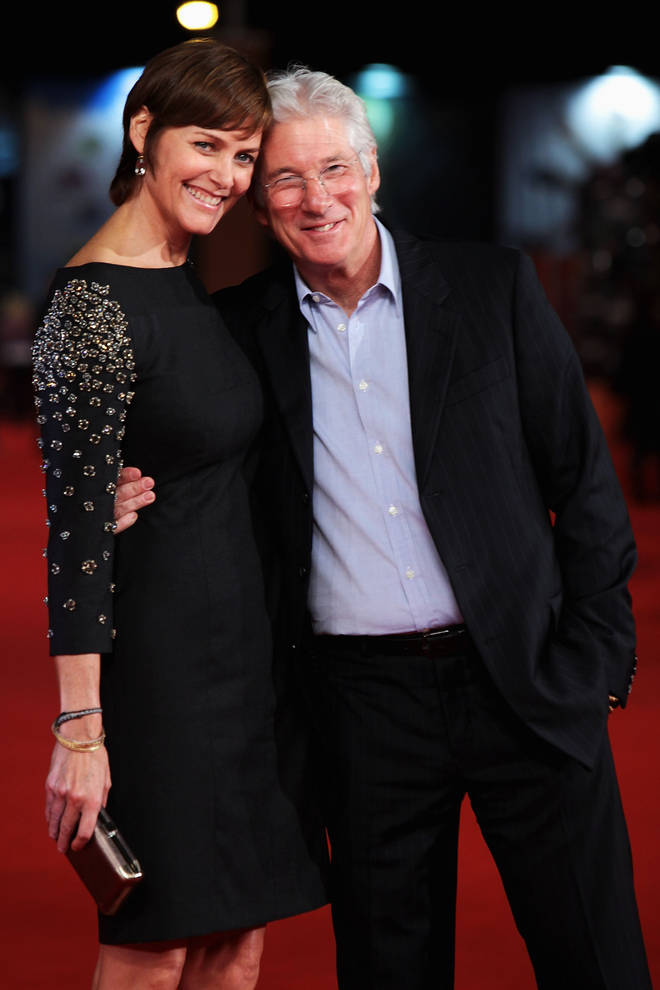 Richard Gere and second wife Carey Lowell in 2011