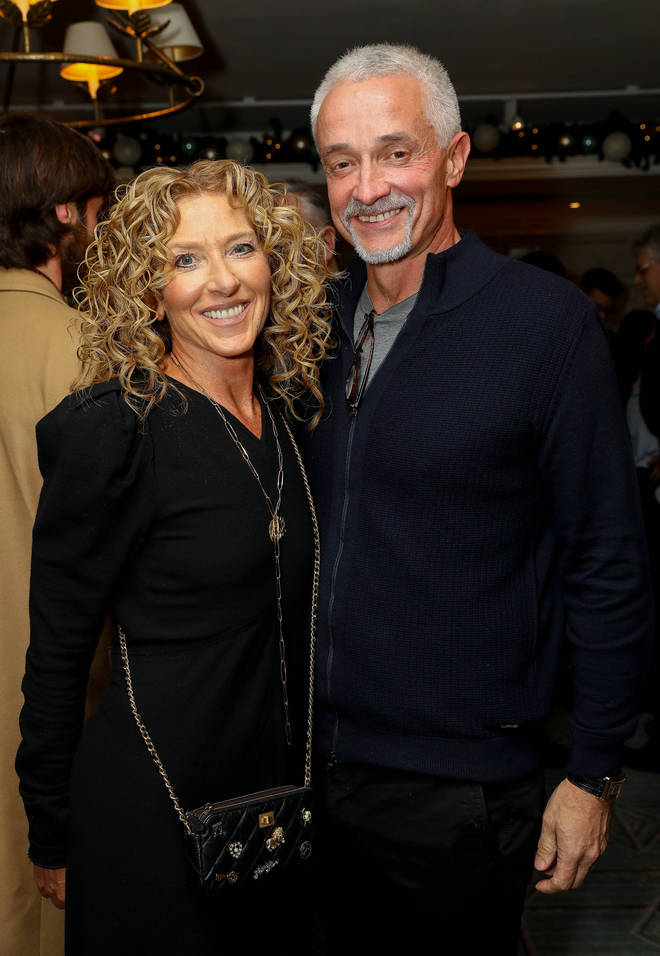 Kelly Hoppen with partner John Gardiner