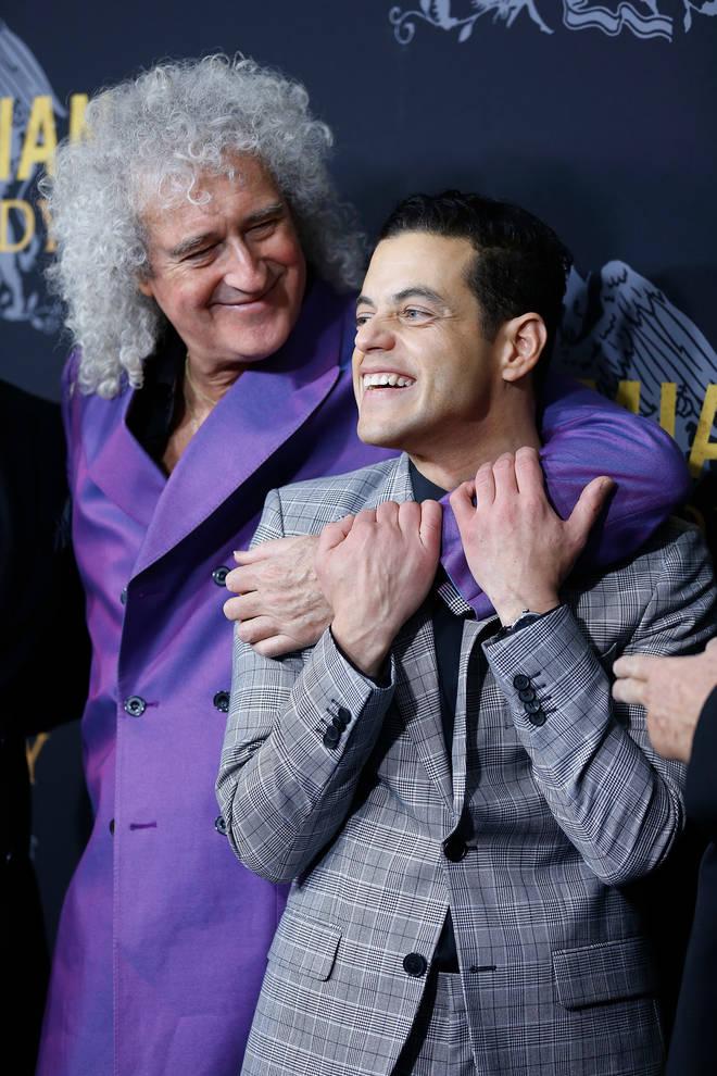 Brian May and Rami Malek