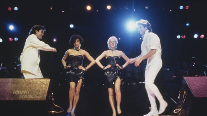 Wham! with Pepsi and Shirlie in 1985