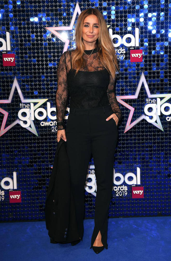 Louise Redknapp arrives at The Global Awards 2019 with Very.co.uk