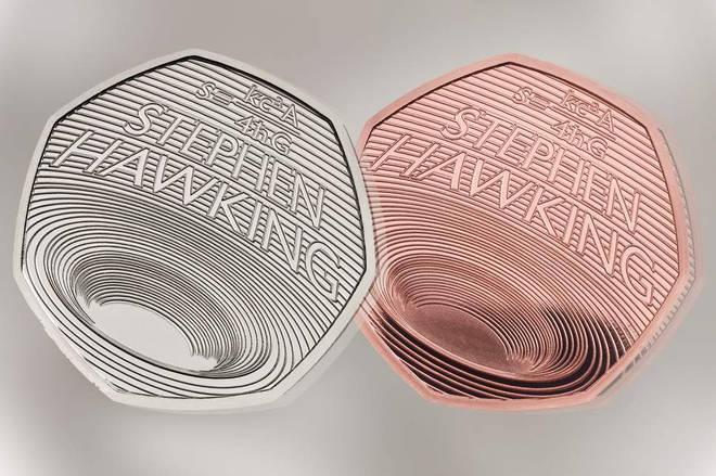 Stephen Hawking 50p coins