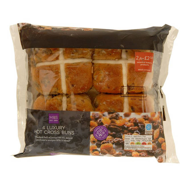 M&S Luxury Hot Cross Buns
