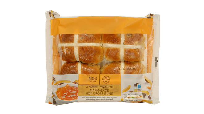 M&S Sweet Orange Marmalade Hot Cross Buns