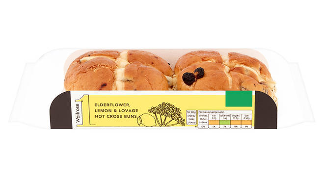 Waitrose Elderflower, Lemon & Lovage Hot Cross Buns