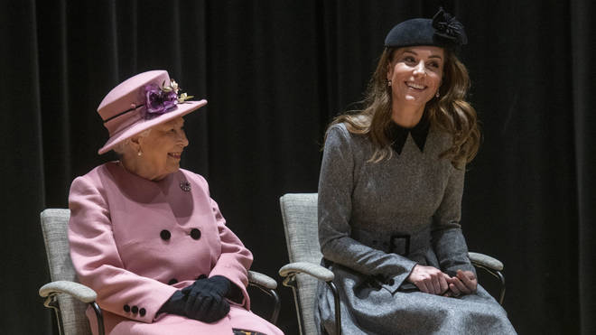 Kate Middleton and The Queen opening Bush House