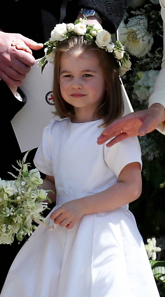 Princess Charlotte was a bridesmaid at Princess Eugenie's wedding