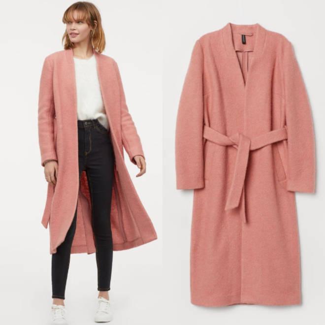 H&M blush pink coat
