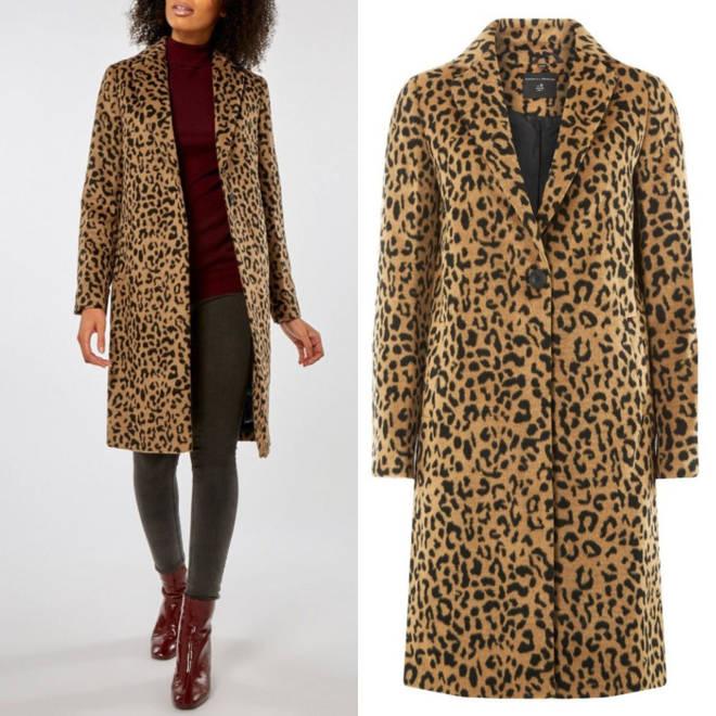 Dorothy Perkins leopard coat