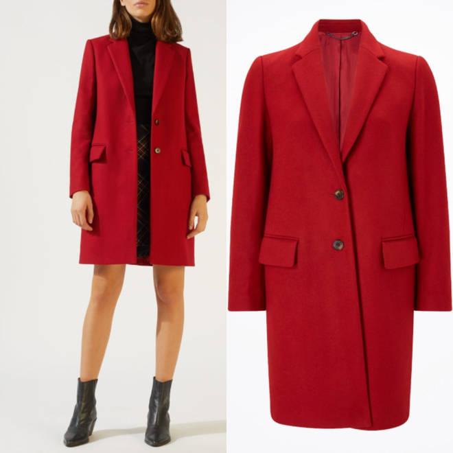 Jigsaw scarlet coat
