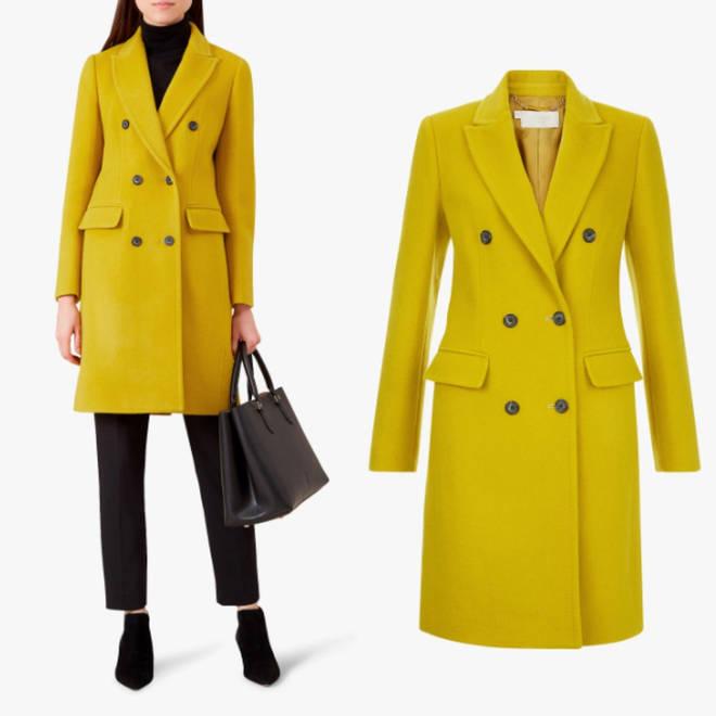 Hobbs mustard coat