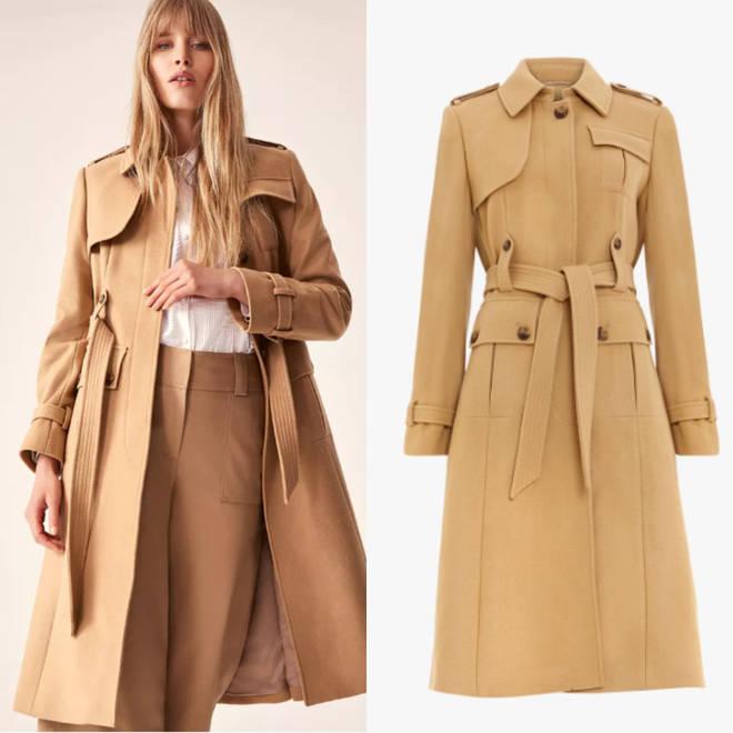 Damsel In A Dress camel coat