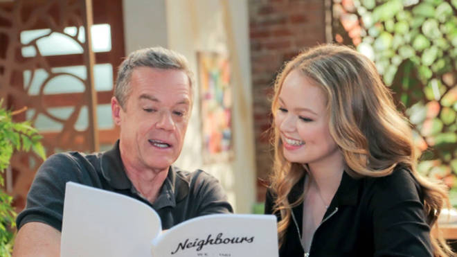 Jemma, 18, will be joining the Robinson family. Pictured here with actor Stefan Dennis who plays Paul Robinson on the show.
