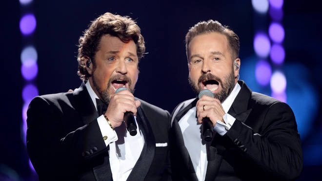 Alfie Boe and Michael Ball perform at the Classic BRIT Awards 2018