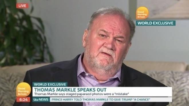 Thomas Markle speaking on Good Morning Britain