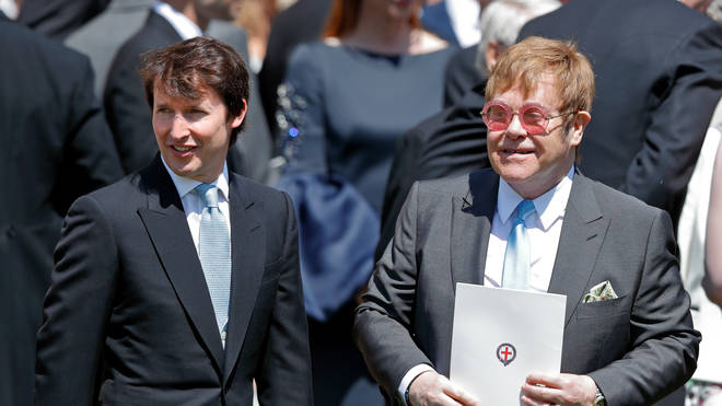 Elton John and James Blunt at the Rotal Wedding, May 19, 2018
