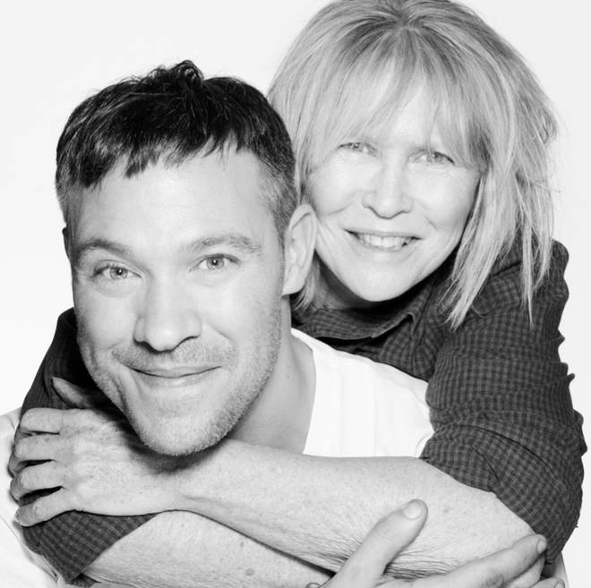 Will Young and his mother Annabel, shot by Rankin