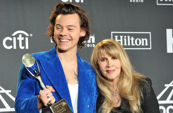Harry Styles and Stevie Nicks at the 2019 Hall of Fame induction