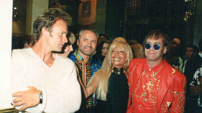 Smooth Radio Exclusive: Sting, Gianni Versace, Donatella Versace and Elton John pictured in 1992