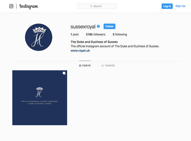 Meghan and Harry's new official Instagram page