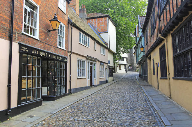 Elm Hill in Norwich is the setting for numerous Hollywood films