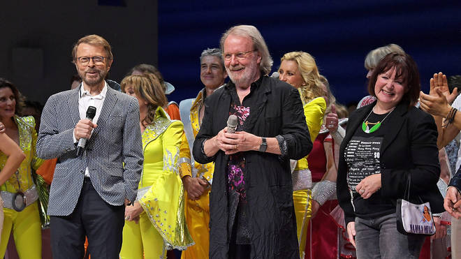 ABBA's Benny and Bjorn surprised fans at Mamma Mia! in London
