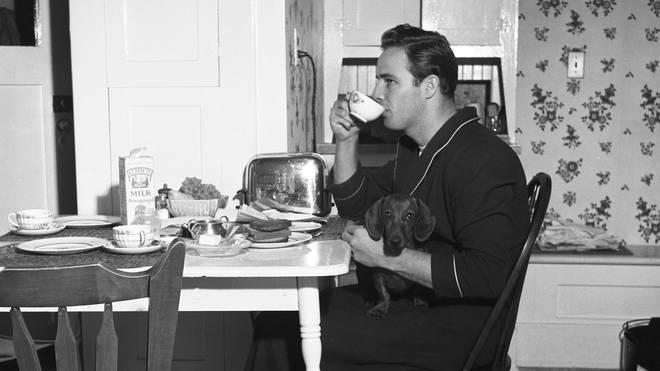 Marlon Brando At Breakfast
