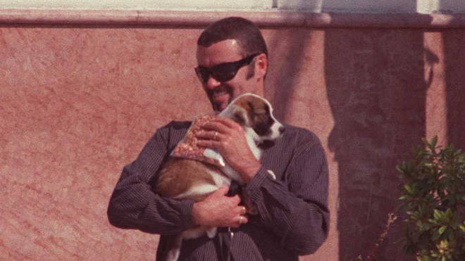 George Michael and his puppy, Pumkin