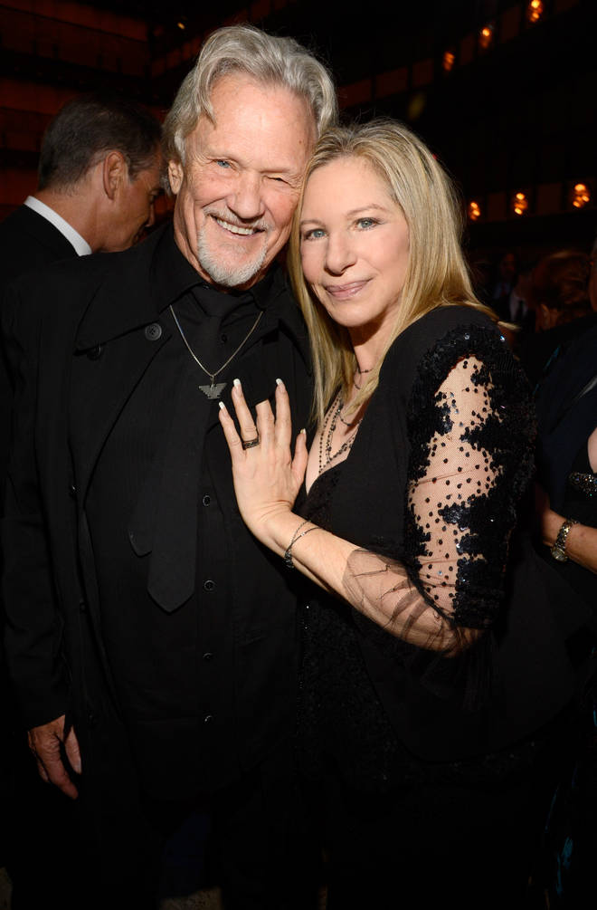 Kris Kristofferson and Barbra Streisand attend the 40th Anniversary Chaplin Award Gala