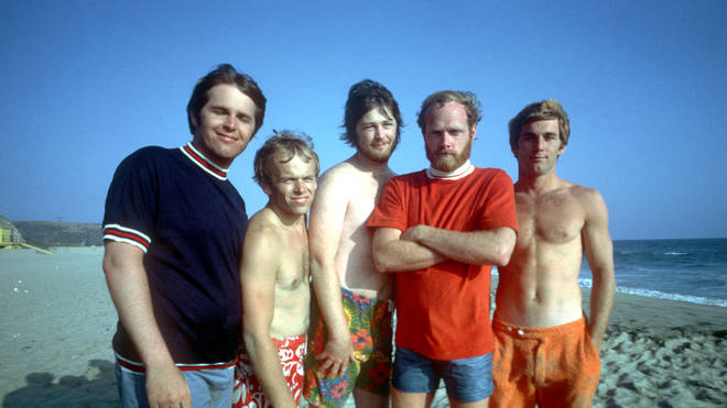 Beach Boys (Carl far left, Brian middle, Dennis far right)