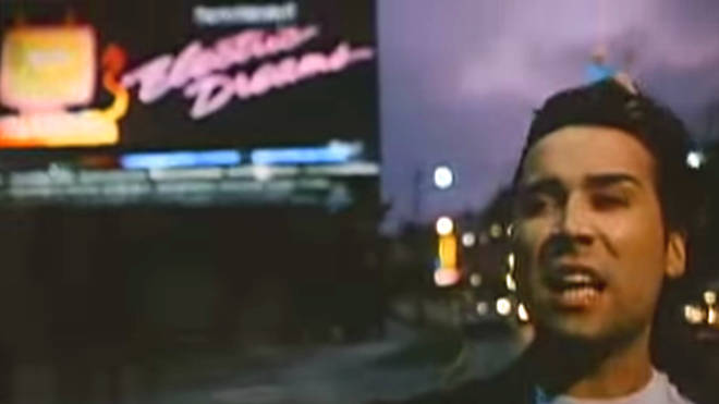 Phil Oakey in the Electric Dreams video