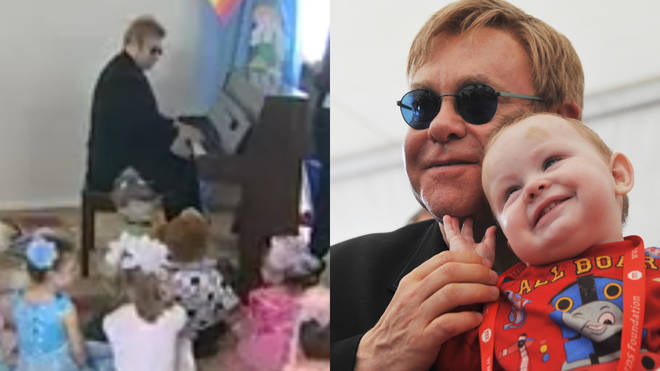 Elton John performs 'Circle of Life' for orphaned children in Ukraine