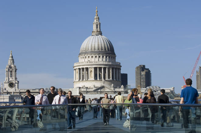 St Paul's Cathedral is the stunning backdrop to the First Dates Restaurant