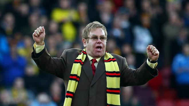 Elton John has his own stand at Watford