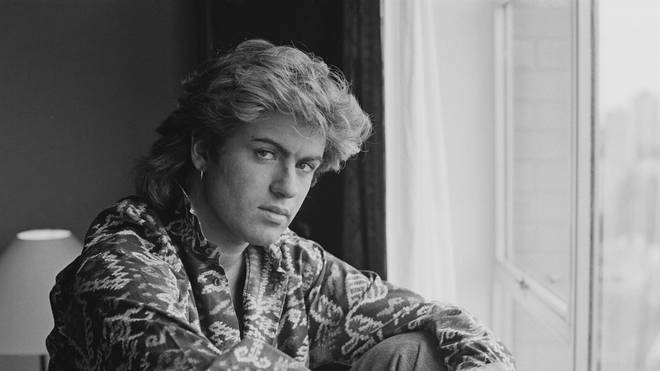 George pictured on the Wham! World Tour in 1985